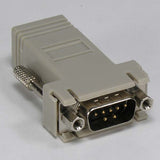 DB9 Male to Modular RJ45  Adapter, Gray Assembled