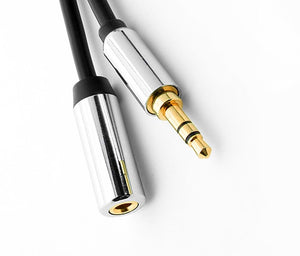 "Pro Version Male to Female Stereo 3.5MM (1/8"") Speaker/Headset/AUX (Auxiliary) Extension Cable - Deep Surplus"