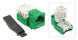 Cat 5E Green Toolless Type Keystone Jack