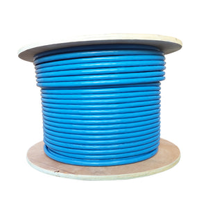 Category 8 S/FTP Solid Bulk Cable 23AWG 40Gbps, 300Ft Spool, Blue - Deep Surplus