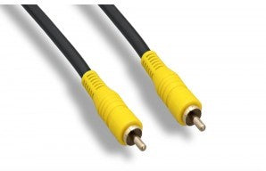 Premium RCA Male to RCA Male RG59 Audio Patch Cables, Gold Plated
