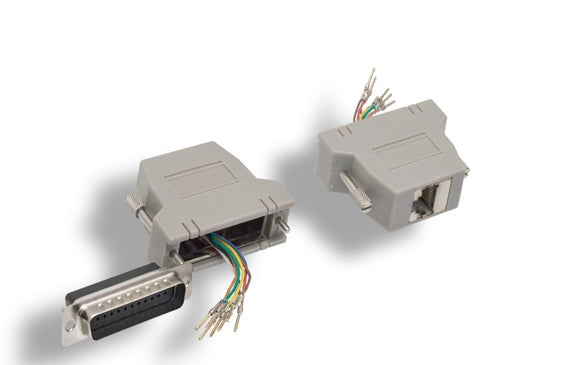 Shielded DB25 to Modular RJ45 Adapter