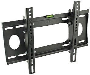 TV Tilt Wall Mount Bracket 23-37in 77lbs, Black - Deep Surplus