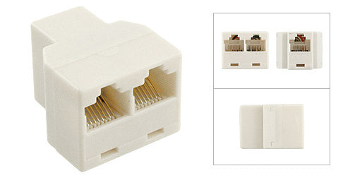 Telephone T Adapter (1 Female to 2 Female) - Deep Surplus