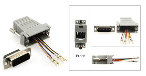 DB15 Male to Modular RJ45 Adapter