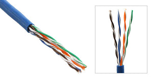 Blue Plenum Solid Cat5E UTP Ethernet Bulk Cable