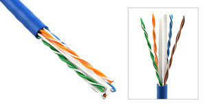 Plenum Solid (CMP) Cat 6 UTP Ethernet Bulk Cable, 1,000ft (Broken Spool - Plastic Spool-in-Box) - Deep Surplus