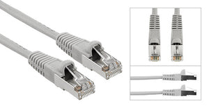 Gray Shielded Cat 5E Patch Cable