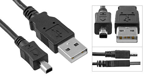 USB Mini 4 Pin to A Male Cables (USB 2.0) - Deep Surplus