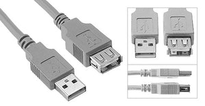USB Extension Cable A Male to A Female (USB 2.0) - Deep Surplus