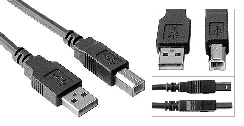 USB Printer/Device Cable A Male to B Male (USB 2.0) - Deep Surplus