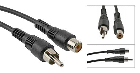(1) RCA Female to (1) RCA Male Audio Patch Cable - Deep Surplus