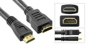 HDMI Extension Cable Male to Female, Black (24 AWG) - Deep Surplus