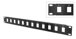 "Unloaded 19"" Patch Panel - Insert Your Own Jacks - Deep Surplus"