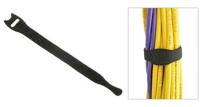 "Velcro Cable Ties, 1/2"" Body, Black"