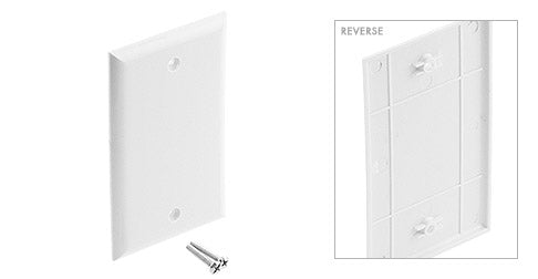 Blank Single Gang Wall Plate White