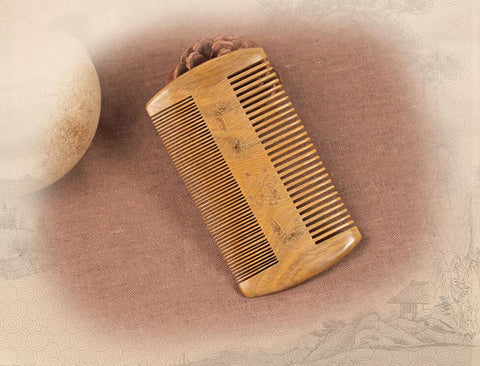 Wooden Hair Comb 100% Nature Sandalwood