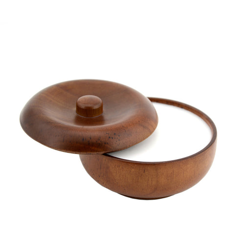 Natural Wood Shaving Bowl WI with soap