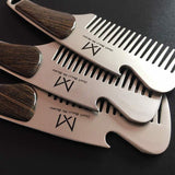 1pc Portable Male Beard Comb Stainless steel