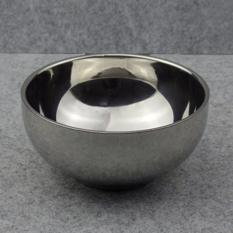 Double Layer Stainless Steel Shaving Soap Bowl