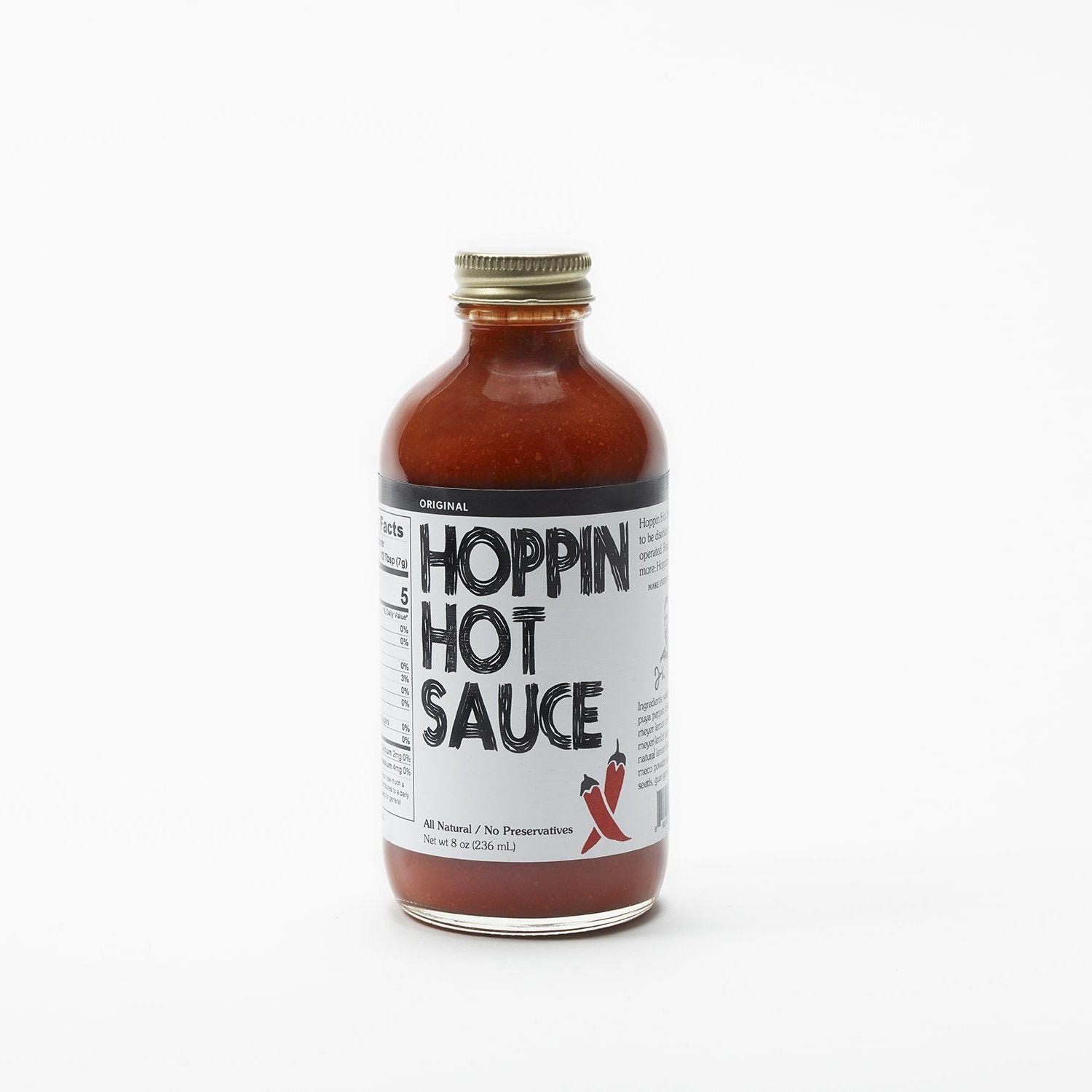 Hoppin Hot Sauce Original Flavor, 8oz