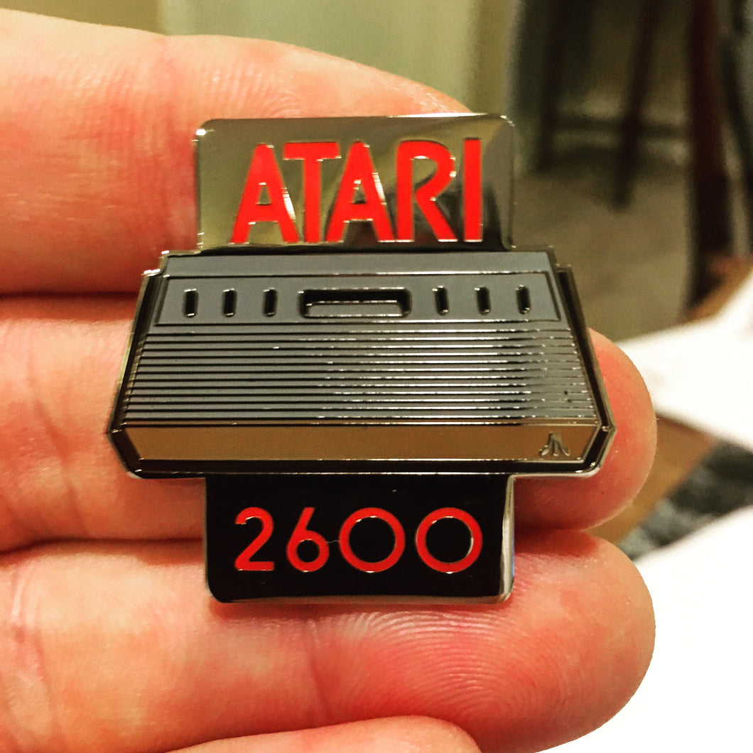 Atari 2600 Gaming Console Six-Switch Enamel Pin