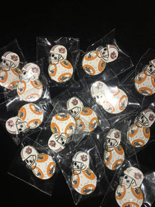 Auburn-BB8 Droid Football Enamel Pin