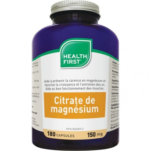 Magnesium citrate 150mg (180 caps)