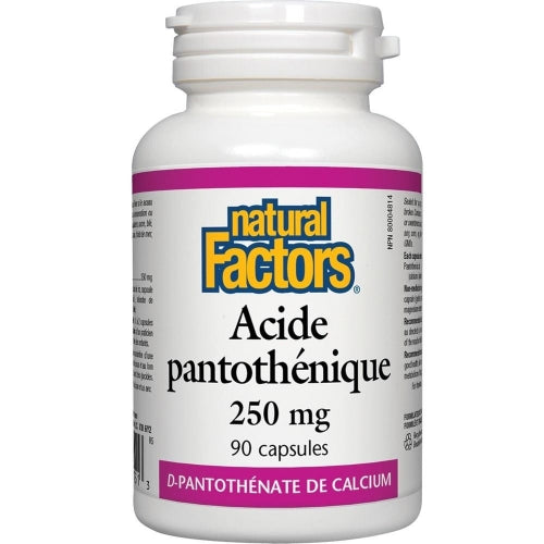 Acide pantothénique 250mg (90 caps)