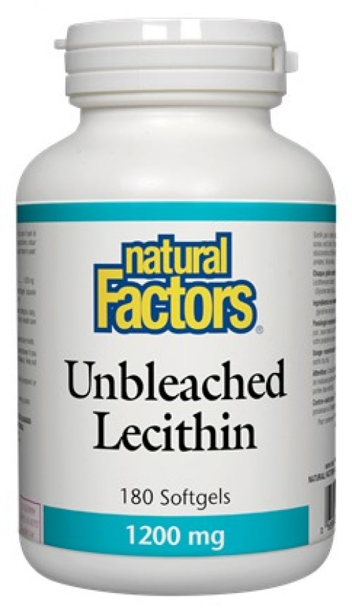 Lécithine non blanchie 1200mg (180 gélules)
