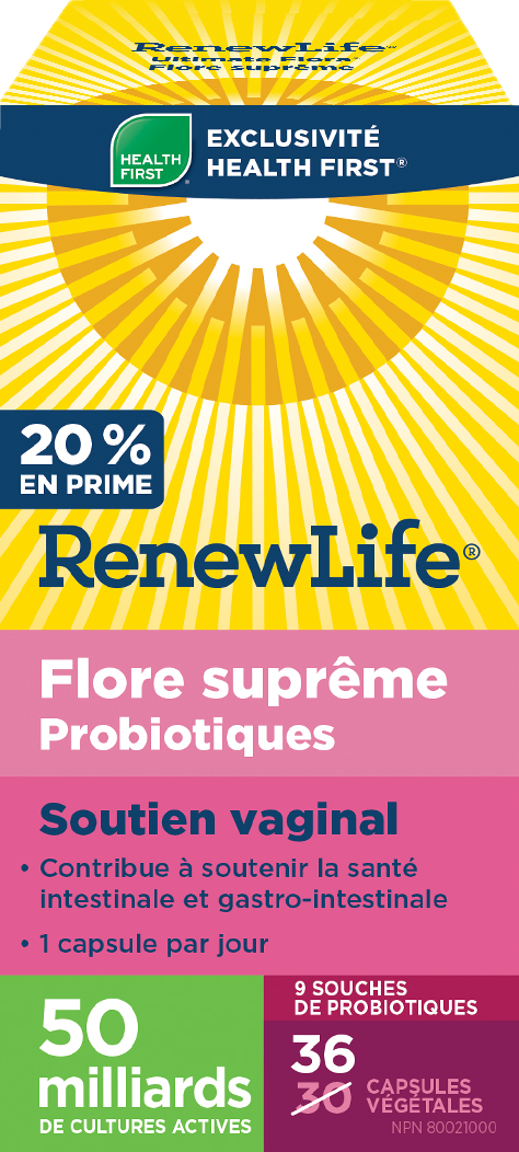 Duo flore supreme soutien vaginal (36+36)