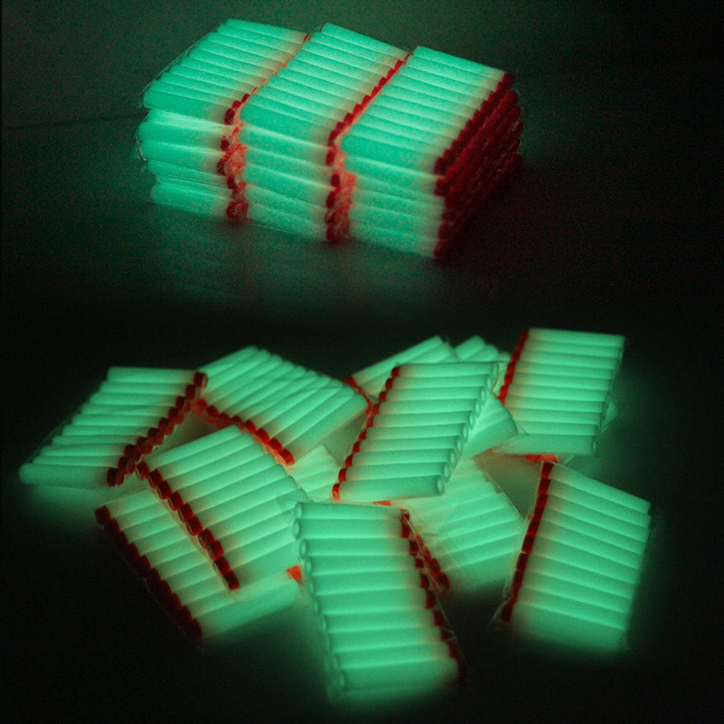 Nerf 100 Pcs Glow in the Dark: Luminous For Nerf Bullets Soft Hollow Hole Head