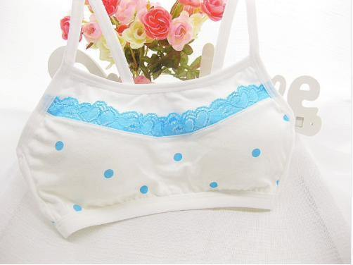 Blue Polka Dot Training Bra