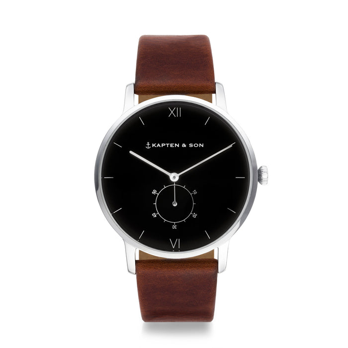 "Heritage Silver ""Black Brown Leather"" - kapten & Son - South Africa"