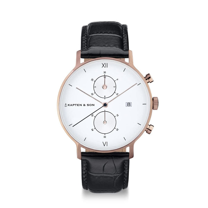 "Chrono ""Black Croco Leather"" - kapten & Son - South Africa"