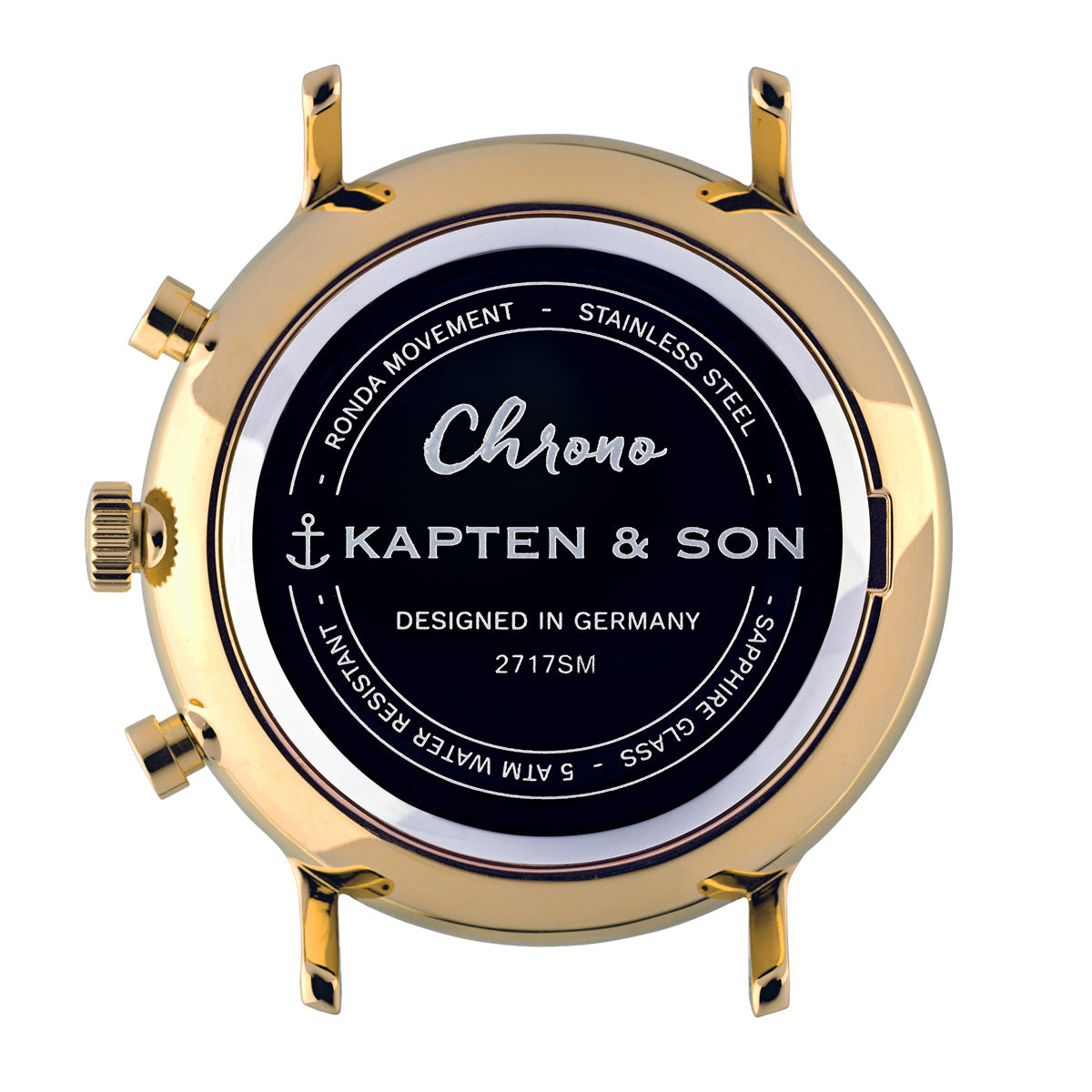 "Chrono Small Gold ""Black Croco Leather"" - kapten & Son - South Africa"