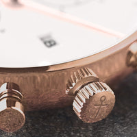 "Chrono Small ""Rose Woven Leather"" - kapten & Son - South Africa"