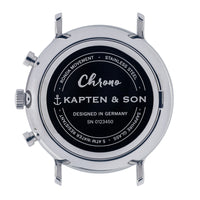"Chrono Small Silver ""Black Woven Leather"" - kapten & Son - South Africa"