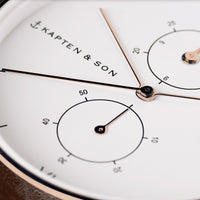 "Chrono Small ""Grey Vintage Leather"" - kapten & Son - South Africa"