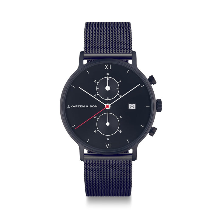 "Chrono Black ""Midnight Mesh"" - kapten & Son - South Africa"