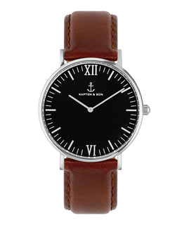 "Campus Silver ""Black Brown Leather"" - kapten & Son - South Africa"