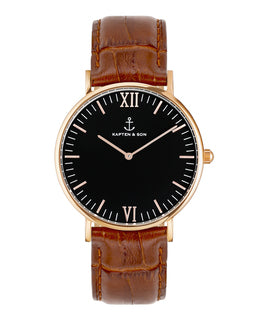 "Campus ""Black Brown Croco Leather"" - kapten & Son - South Africa"