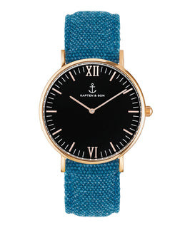 "Campus ""Black BLUE"" Canvas - kapten & Son - South Africa"