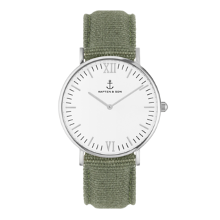 "Campina Silver ""OLIVE"" Canvas - kapten & Son - South Africa"