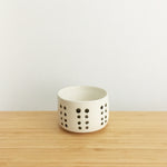 Cylindrical Ramekin with Ring, dotted
