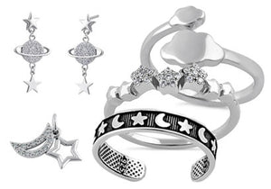 Sky, Planets, Sun, Moon and Stars Jewelry