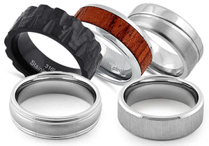 Steel Wedding Bands