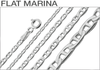 Sterling Silver Flat Marina Chains