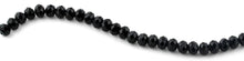 Load image into Gallery viewer, 10mm Black  Faceted Rondelle Crystal Beads