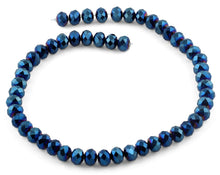 Load image into Gallery viewer, 10mm Blue Faceted Rondelle Crystal Beads